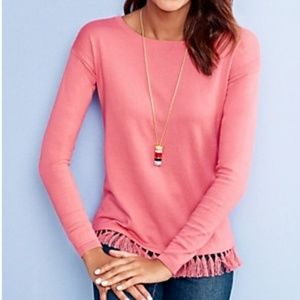 Talbots Tasseled Sweater with a touch of cashmere